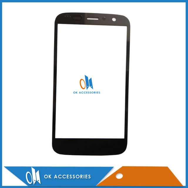 Black Color 2PCS/Lot For Motorola XT1032 XT1033 For Moto T1032 XT1033 Outer Glass Front Glass Screen High Quality