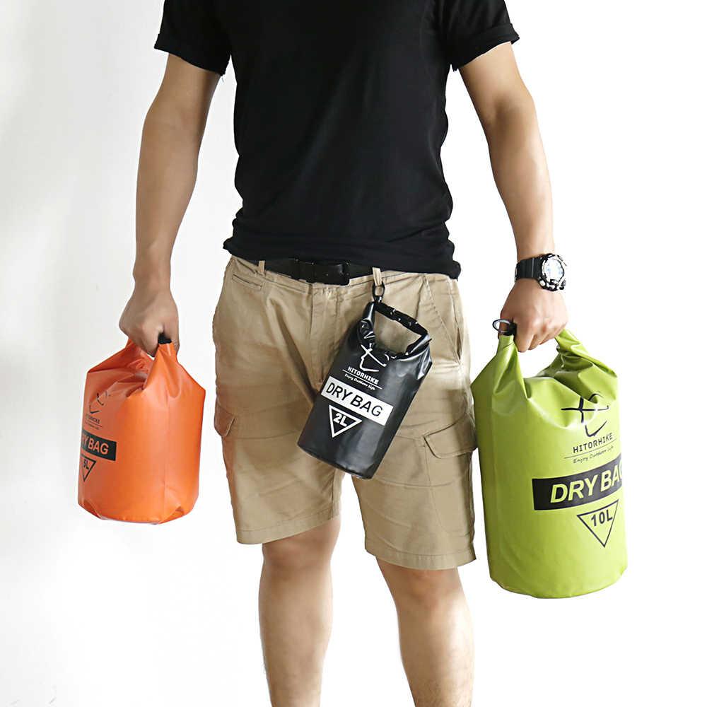 Baru Hitorhike 10L Profesional Tahan Air Kantong Berkemah Berperahu Kayak Arung Jeram Bersepeda Kolam Tas Backpack Stuff