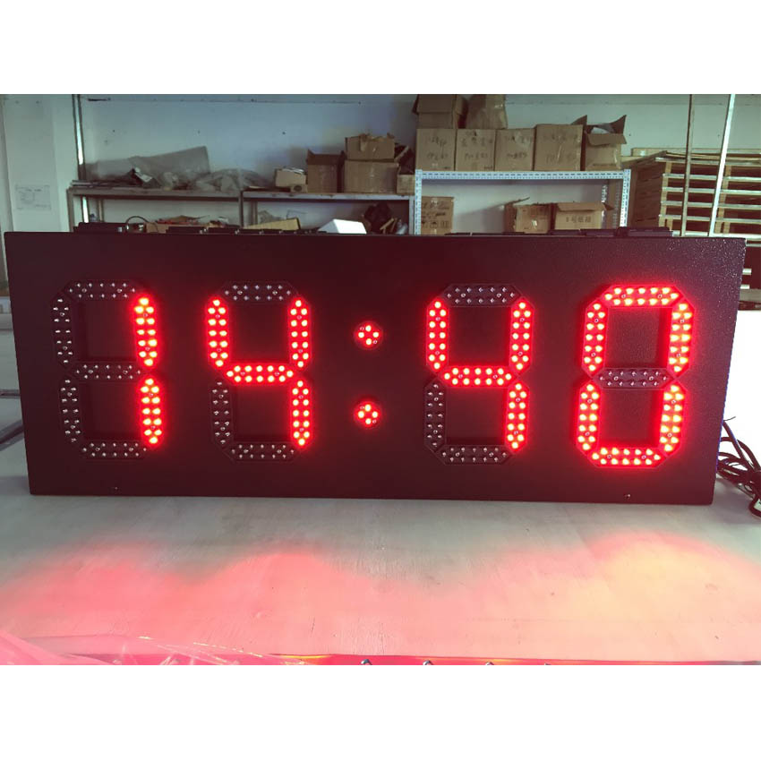 High Brightness LED Time Screen 6'' 8'' 10'' 12'' 15'' Led Temperature Screen LED Lamp 800x305mm Outdoor Led Display