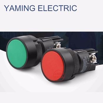 8pc 20mm Pillar Box Red Light Red /& Colourless 2 Hole Button 1311