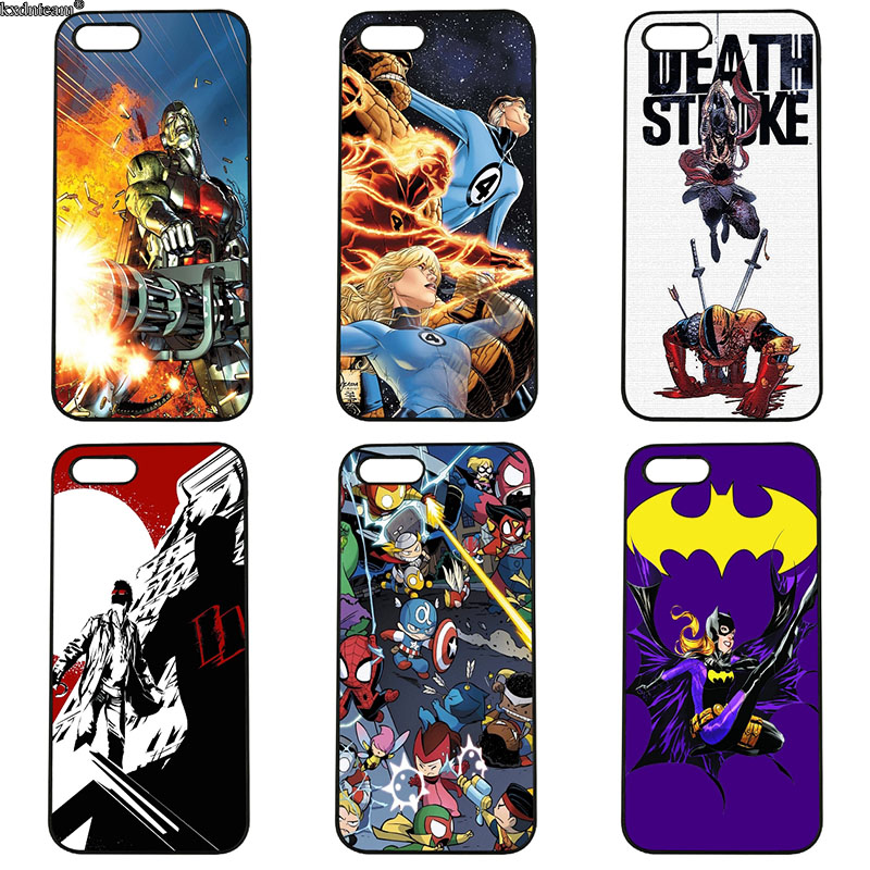 Hard PC Plastic Cover Marvel Superhero Comics Cell Phone Case for iphone 8 7 6 6S Plus X 5S 5C 5 SE 4 4S iPod Touch 4 5 6 Shell