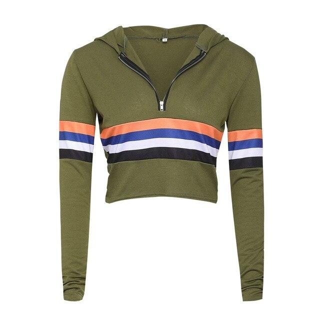 Free Ostrich 2018 Autumn 2 Piece Set Women Tracksuit Sportswear Casual Sweat Pants Hooded Cropped Sweatshirt Hoodie N30 3
