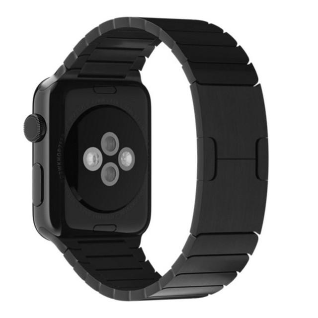 1:1 original 42mm 38mm espaço preto fecho ligação pulseira de aço inoxidável para a apple watch band strap pulseira para iwatch