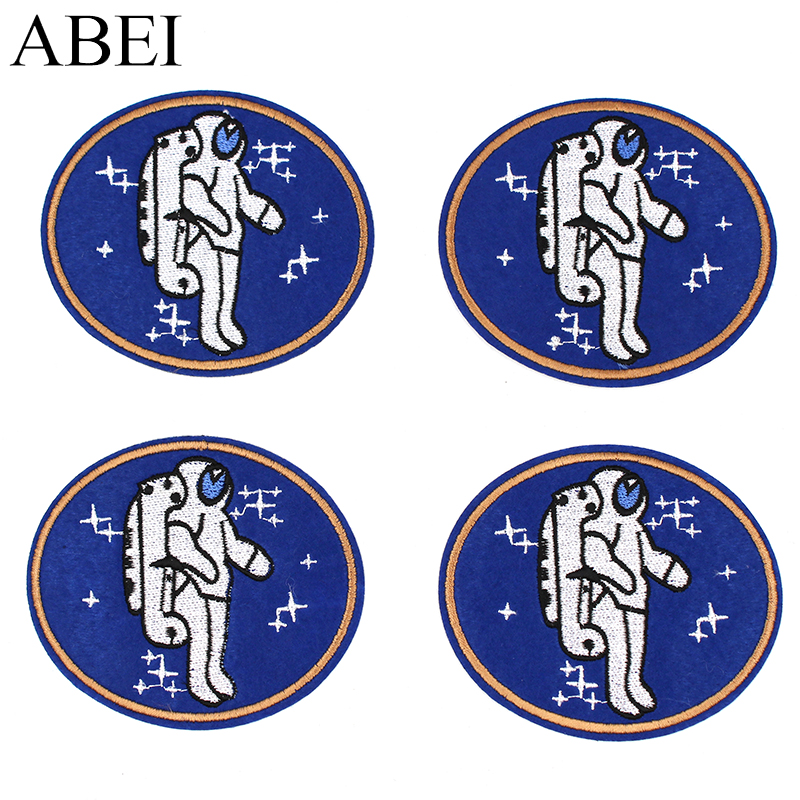 Diy Handmade Embroidered Patch: 10pcs/lot Embroidered Astronaut Patches DIY Handmade