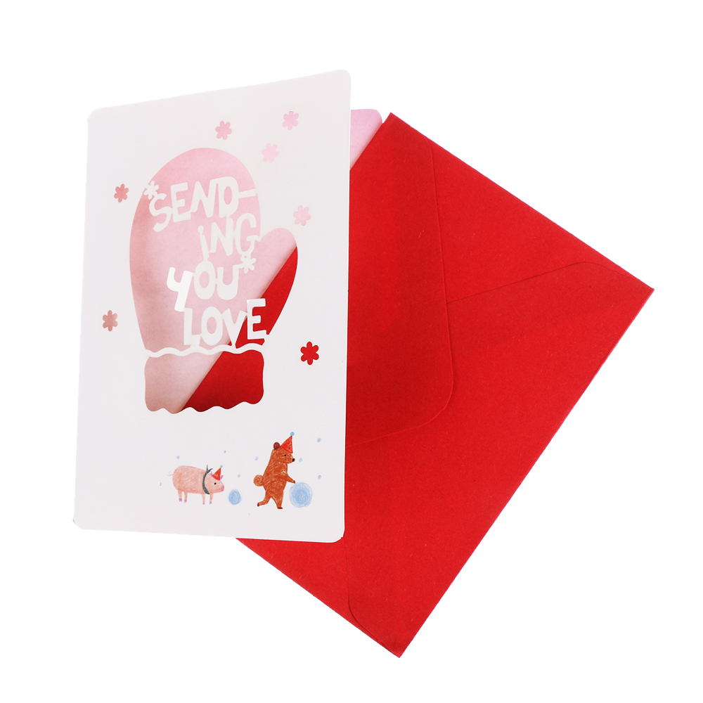 4pcs/Set Xmas/New Year Gift Greeting Paper Cards Card ...