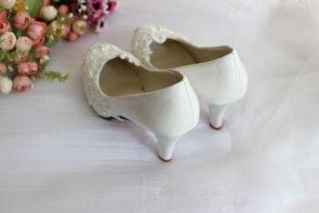 Zapatos De Novia De Encaje Marfil | Zapatos De Boda De Perlas De Encaje Marfil Tallas Grandes Hechos A Mano Personalizados Tallas Grandes Zapatos De Novia De Dama De Honor Para Mujer