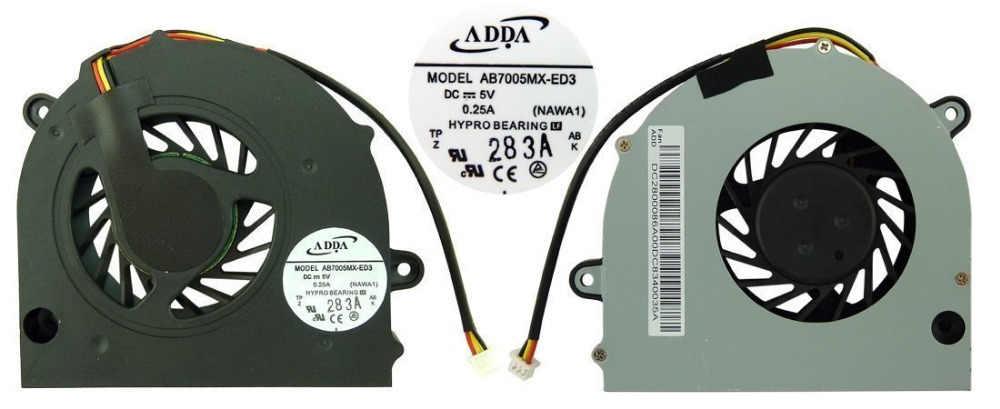 SSEA Original Novo ventilador portátil CPU para Lenovo G450 G450A G455 G550 G555 Series 13. V1.B3483. F. GN AB7005MX-ED3 DFS531305M30T