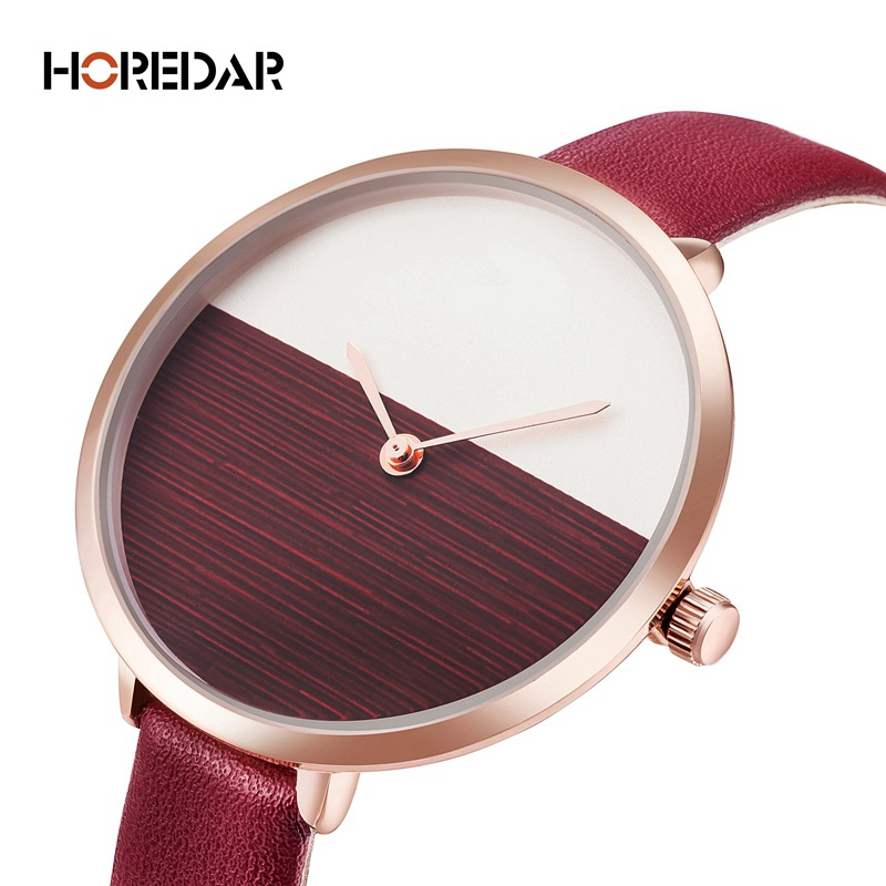 Top Fashion Minimal Watch Women Quartz Leather Watch Simple Ultra Thin Strap Female Clock Minimalist Elegant Reloj Mujer 2017 oktime minimalist women rhinestone watch analog quartz clock mesh leather simple fashion ladies wrist watch reloj mujer 2017