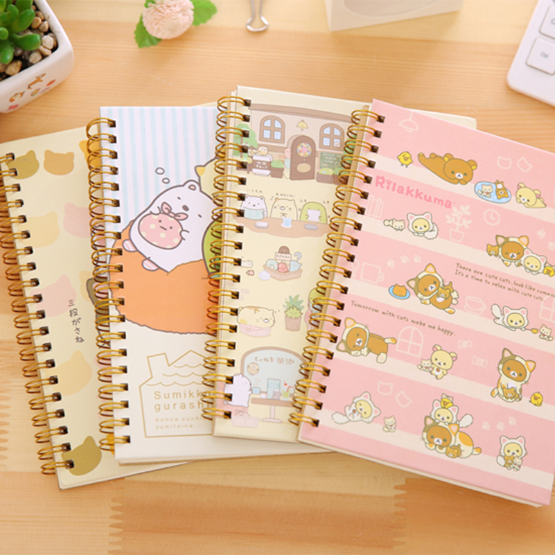 Kawaii Notebook For Spiral Coil Notebook/Diary Agendas/Creative/Pocket Note Book For Office School Supplies From Japan Cartoon