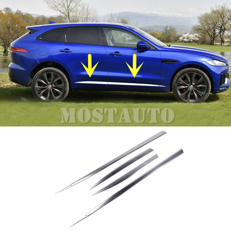 For Jaguar F Pace X761 ABS Car Door Body Side Moulding
