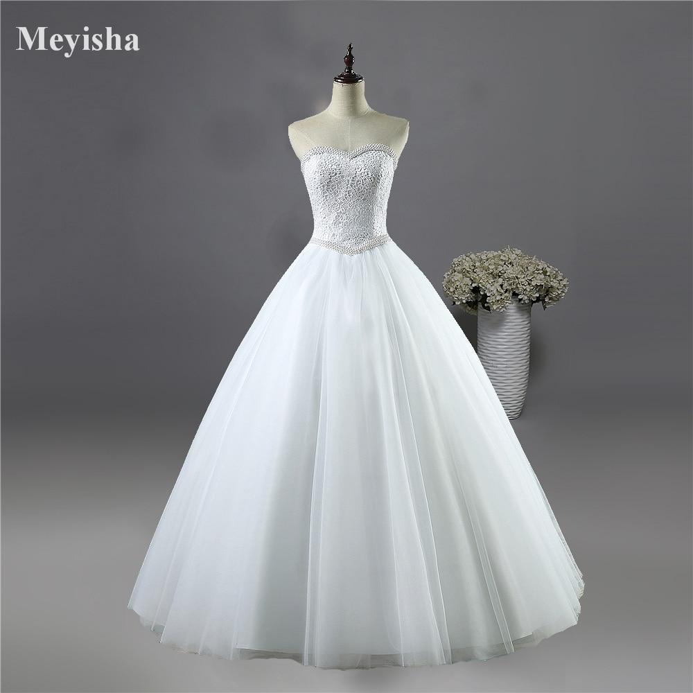 Buy zj9069 2017 white ivory lace for Strapless wedding dresses 2017