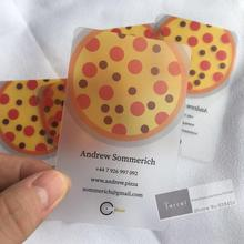 بطاقة أعمال شفافة من الكلوريد متعدد الفينيل مخصصة للطباعة على البطاقات/الصقيع مزودة بشحن مجاني 200 قطعة/الوحدة