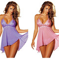 Plus Size M-5XL Mulheres Lady Babydoll Lingerie de Renda Lingerie Sleepwear Nightwear
