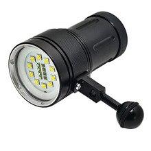 10PCS/Lot New 12000 Lumens 10*Cree XM-L2 LED Diving Flashlight Torch 100M Underwater Waterproof Scuba Lantern