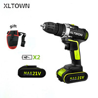 XLTOWN 21V electric screwdriver multi function electric screwdriver home cordless drill lithium battery power tool