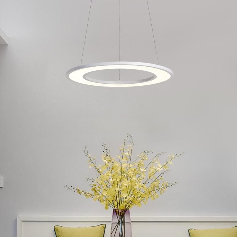 led chandelier Modern minimalist restaurant lights circular creative personality warm romantic bedroom den led lights