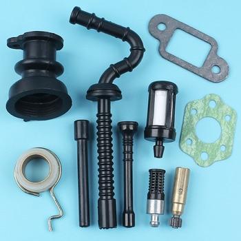 Pompa olio Worm Gear Linea Filtro Collettore di Aspirazione Tubo Del Carburante Per 021 023 025 Motosega STIHL MS210 MS230 MS250 CONSEGNA w/Silenziatore Carb guarnizione
