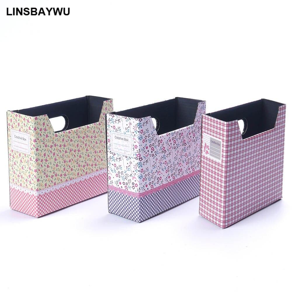 1pc High Quality Cute Desk Decor Organizer Makeup Cosmetic Stationery DIY Cartoon Paper Stationery Board Storage Box Hot Search