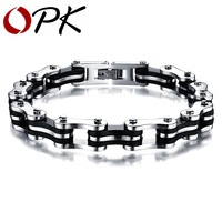 OPK JEWELRY 316L Stainless Steel Bracelet Fashion Jewelry Thicker Bracelet For Man Link Chains 3136