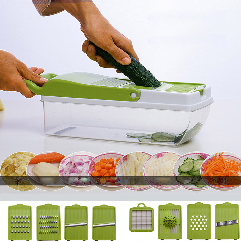 Mandoline Vegetable Slicer Grater Cutter Plate Type Onion Grid Juicer Potato Professional 9 in 1 Kitchen Tool Dropshipping