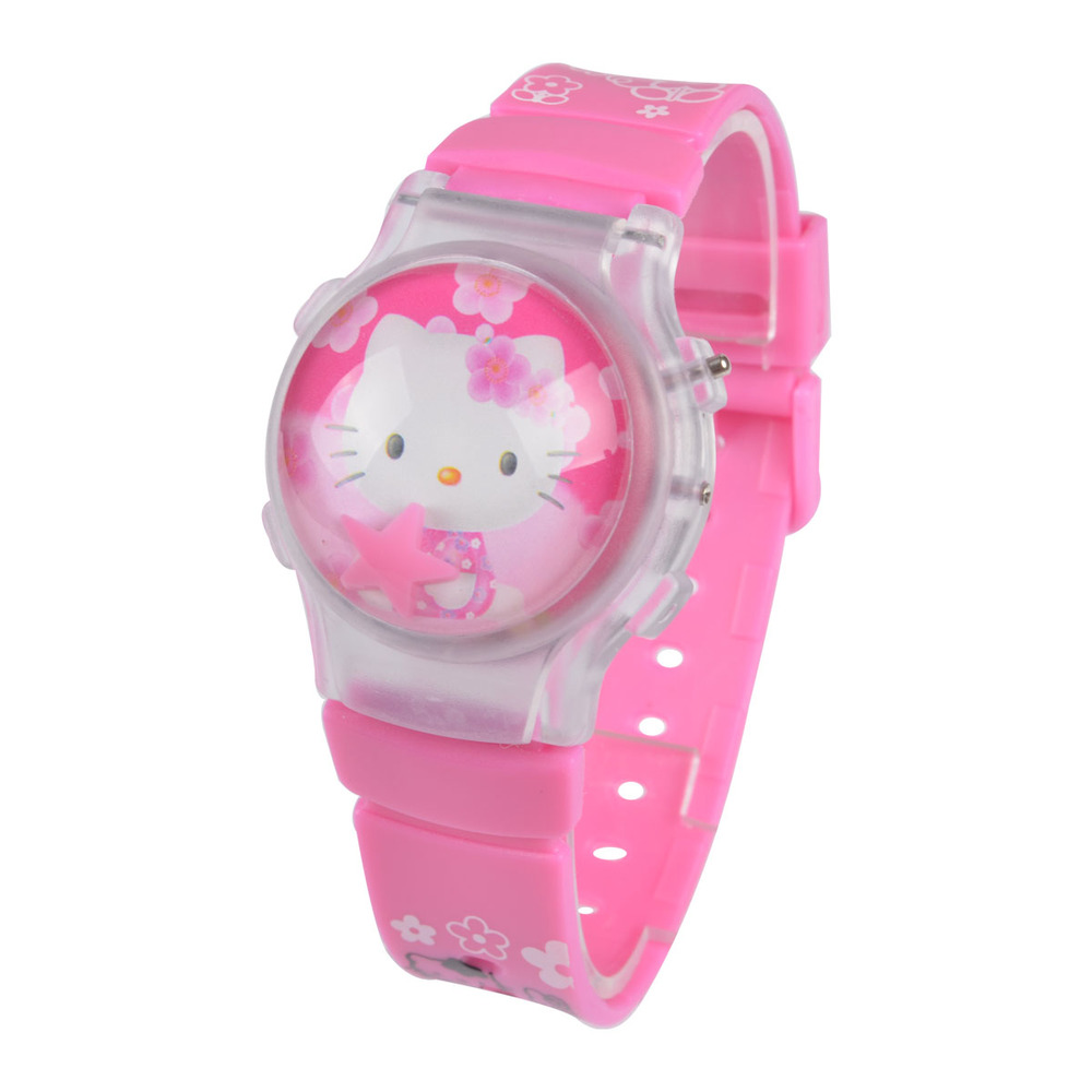 HOT sale high quality Silicone Pink Hello Kitty Watch ...