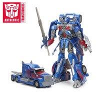 21cm Transformers Toys The Last Knight Premier Edition Leader Class Optimus Prime PVC Action Figure Collection Model Dolls