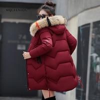 2019 New Women Winter Coat Thick Warm Women Parkas Winter Jacket Women Wool Hats Fur HoodedDown Jacket