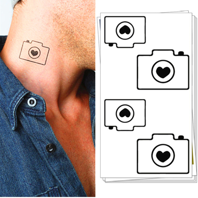 M Teoria Mały Aparat Flash Tatuaże Ręcznie Naklejki 1056 Cm