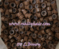 1000pcs/bottle silicon lined Micro Links Rings Beads Hair Feather Extensions 11#L.brown