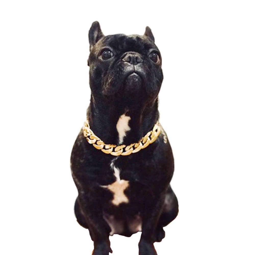 1 шт. собачий ошейник с цепью-ошейники для обучения домашних животных, пластиковый, прочный ожерелье дроссель для питбулов, бульдогов, мастики, крупных пород