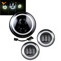 Yait 7 inch LED Headlight 4.5 inches Fog Lights for Ultra Classic Electra Glide Ultra Street Glide