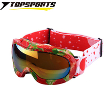 TOPSPORTS Outdoor children spherical ski googles kids mountain strawberry snowboard sports skiing  glasses  Rushed Eyewear