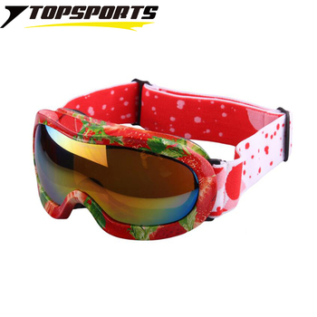 TOPSPORTS Outdoor children spherical ski googles kids mountain strawberry snowboard sports skiing  glasses  Rushed Eyewear