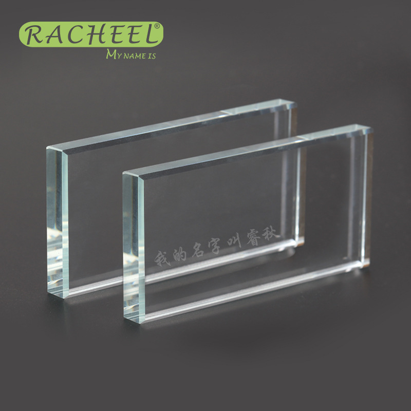 Rectangle-shaped Eyelash Glue Glass Holder False Eyelash Stand False Eyelash Extension Crystal Glass Glue Pallet Accessories