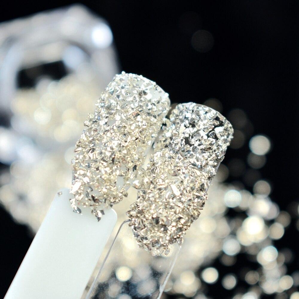 Metallic Champagne Stone Nail Rhinestone Small Irregular Beads 3D Manicure Nail Art Decoration 1 Box 6g