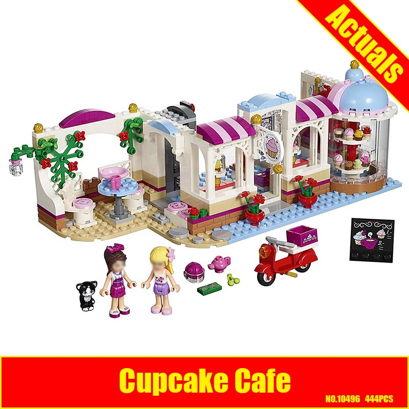 bela 10496 Girls Friends Heartlake Cupcake Cafe Building Blocks Set Model Brick Girl Toy compatiable with friends 41119