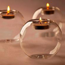 Glass Ball Candle Holders