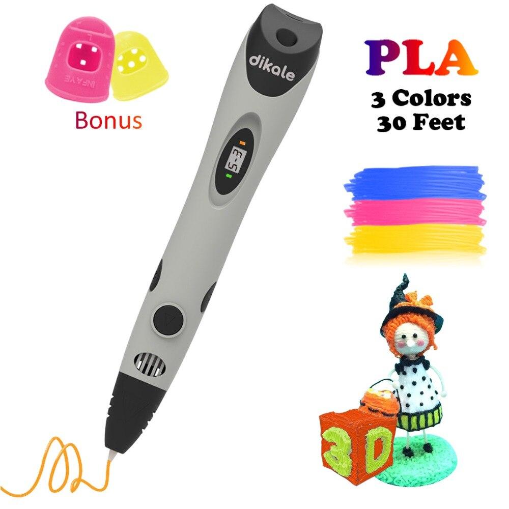 Dikale 3D Scribble Penna Lapiz 3D Disegno Stampante Stift Stampa Matita Caneta Stencil Ricarica PLA Filamento per il Capretto Adulto di Arte mestiere