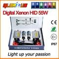 Xenon HID kit Slim lastro F5 55 W 0.1 segundo Rápido brilhante lastro D2S D2C 4300 K 5000 K 6000 K 8000 K SUPER BRANCO, ESCONDEU KIT XENON