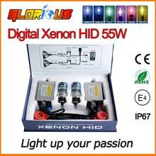 Xenon HID комплект Тонкий балласт F5 55 Вт 0.1 секунды Быстрее яркий балласт D2S D2C 4300 К 5000 К 6000 К 8000 К SUPER WHITE, HID КСЕНОНА