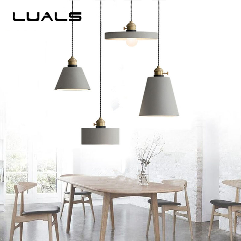 Loft Retro Cement Pendant Lamp Nordic Creative Industrial Pendant Light For Coffee Bar Edison Pendant Lights Indoor Lighting 2 pcs loft retro light rusty color hanging lamp cafe bar pendant lights creative edison lamps industrial style pendant lighting