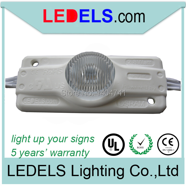 12V 2.8W 245Lumen high power outdoor sign lighting fixtures for DOUBLE sided light box sign,ip65,5years warranty,C/UL approved