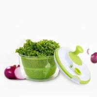 Creative 5L Large Capacity Salad Spinner Pouring Spout Vegetables Dryer Sieve Strainer Colander Basket High Quality 8 JU07 DC156