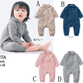 Baby Rompers Japanese style Spring Autumn Unisex Newborn Baby Clothes Cotton Fabric Long Sleeve Baby Product ,Baby Clothing