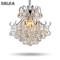 Modern Luxury LED Crystal Chandelier Restaurants Bedroom Crystal Lamp Fashion Creative Living Room Lamp Aisle Crystal