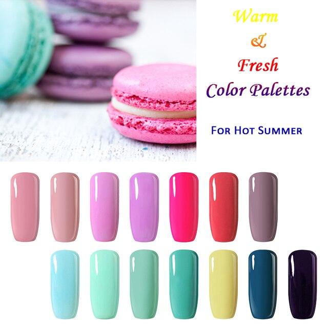 Belle Fille Soak Off Uv Gel Nail Polish Salmon Pink Navy Blue Neon Color