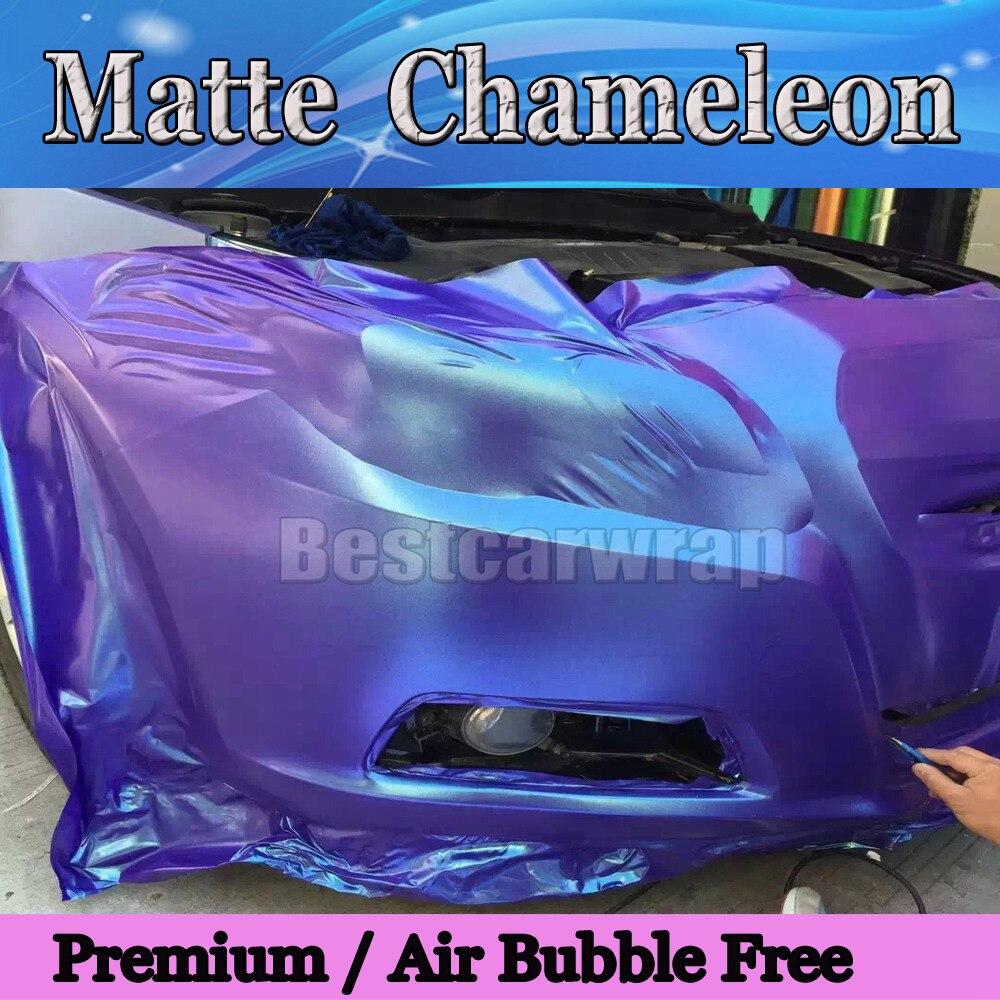 *Premium Matte Chameleon Color Change Purple Gold Sticker Decal Car Vinyl Wrap