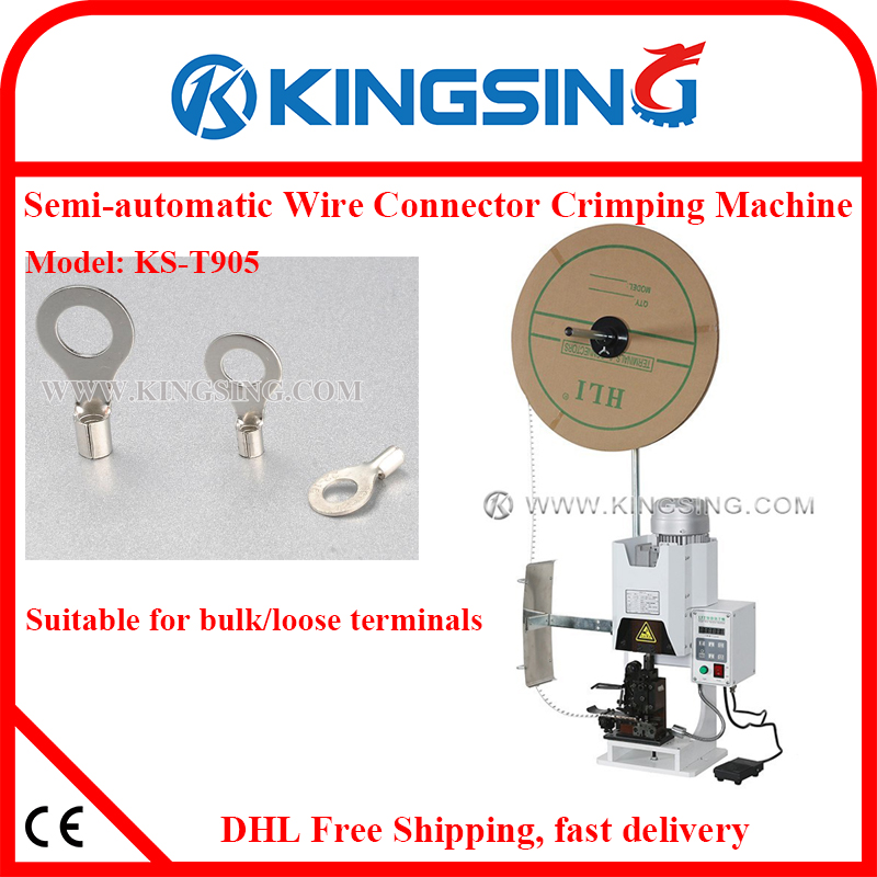 Single Mold Type Terminal Wire Crimping Machine, for Various Ring ...