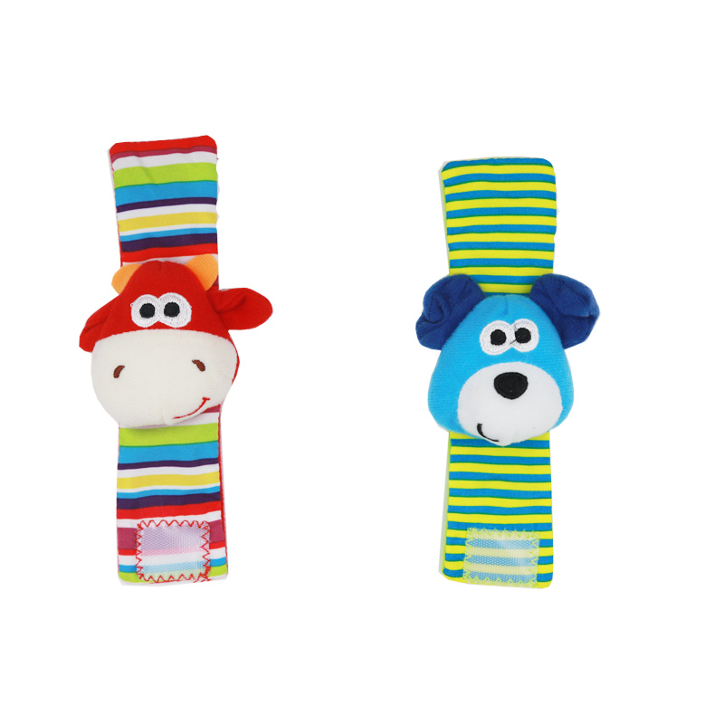 4pcs=2pcs Waist + 2pcs Socks Infant Baby Kids Socks Rattle Toys Wrist Rattle And Foot Socks 0~24 Months 20% Off #5