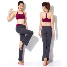 Ladies high quality sports bra and pants set, women's two pieces yoga set, gym workouts bra top and legging, free shipping